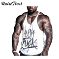Fitness Spring 2019 cotton shark tank top men Sleeveless tops for boys bodybuilding clothing undershirt wholesale vest gyms