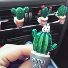 Car Air Conditioning Vent Perfume Clip Resin Cactus Creative Cute Air