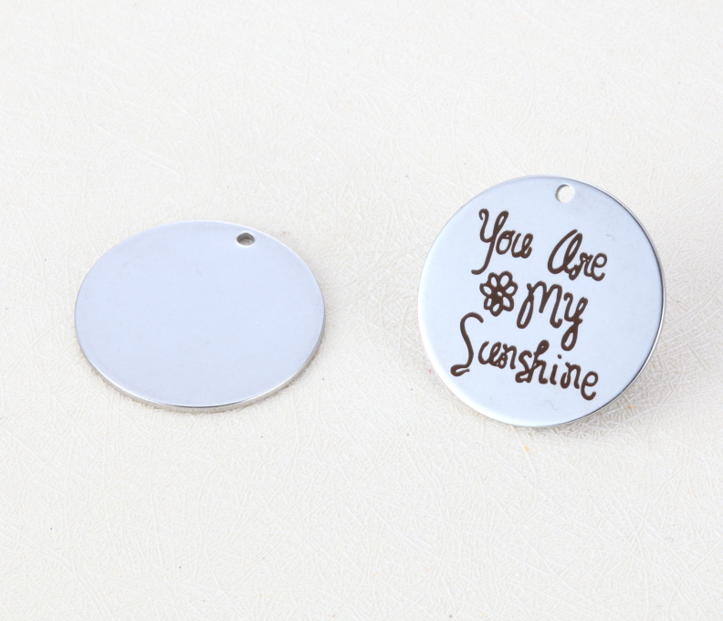 20pcs/lot 25mm High Quality New Arrival Stainless Steel Message Charms You Are My Sunshine For Diy Jewellery Making