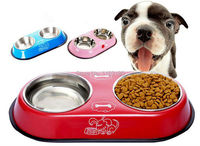 1 Piece Lot Pet Dog Cat Puppy Stainless Steel Travel Feeder Water Dish Bowls Pet Accessories