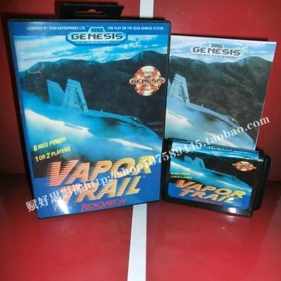 Juegos de Sega tarjeta de Estela De Vapor con Caja y Manual para Sega MegaDrive