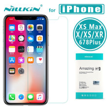 Nillkin for iPhone X XS XS Max XR 8 7 6s 6Plus Tempered Glass 9H+ Pro Glass Screen Protector Film for Apple iPhone 8 7 6S 6 Plus