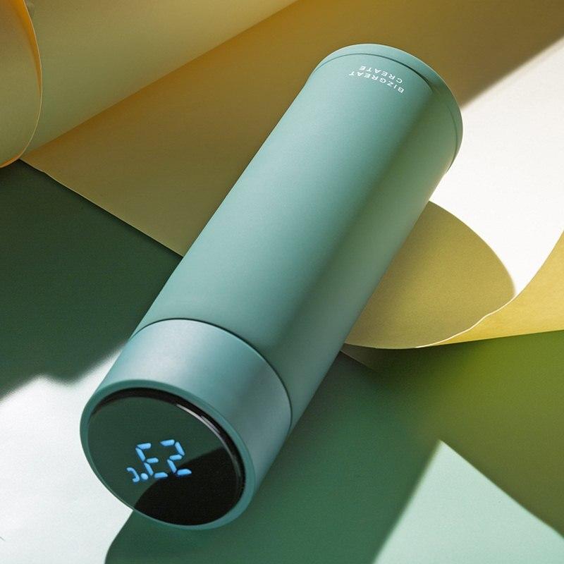 12 色スマート魔法瓶カップ液晶タッチスクリーンステンレス鋼水温度監視飲料水ポータブルフラスコギフト  グループ上の ホーム&ガーデン からの 魔法瓶 & サーモフラスコ の中 1