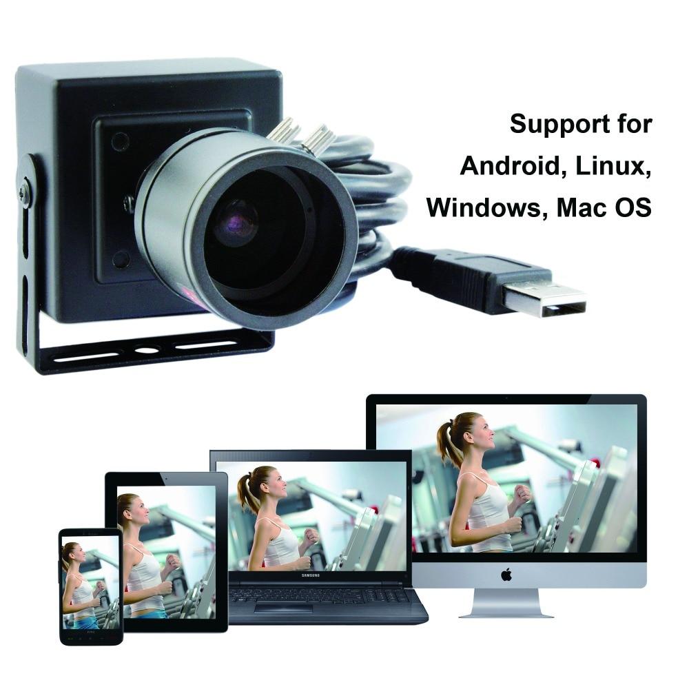 PEL 1.3MP HD Monochrome Noir Blanc 2.8-12mm à focale variable M12 webcam Aptina AR0130 OTG UVC usb caméra pour android linux windows mac