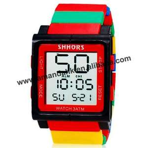 LED Watch Unisex Digital-Hours Sports Casual Fashion 100pcs/Lot Rainbow Hot-Selling
