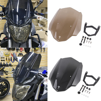 Moto Sport Touring Racing Windshield Windscreen Shield Screen with Mounting Bracket for 2016 2018 Yamaha MT 03 MT 03 MT03