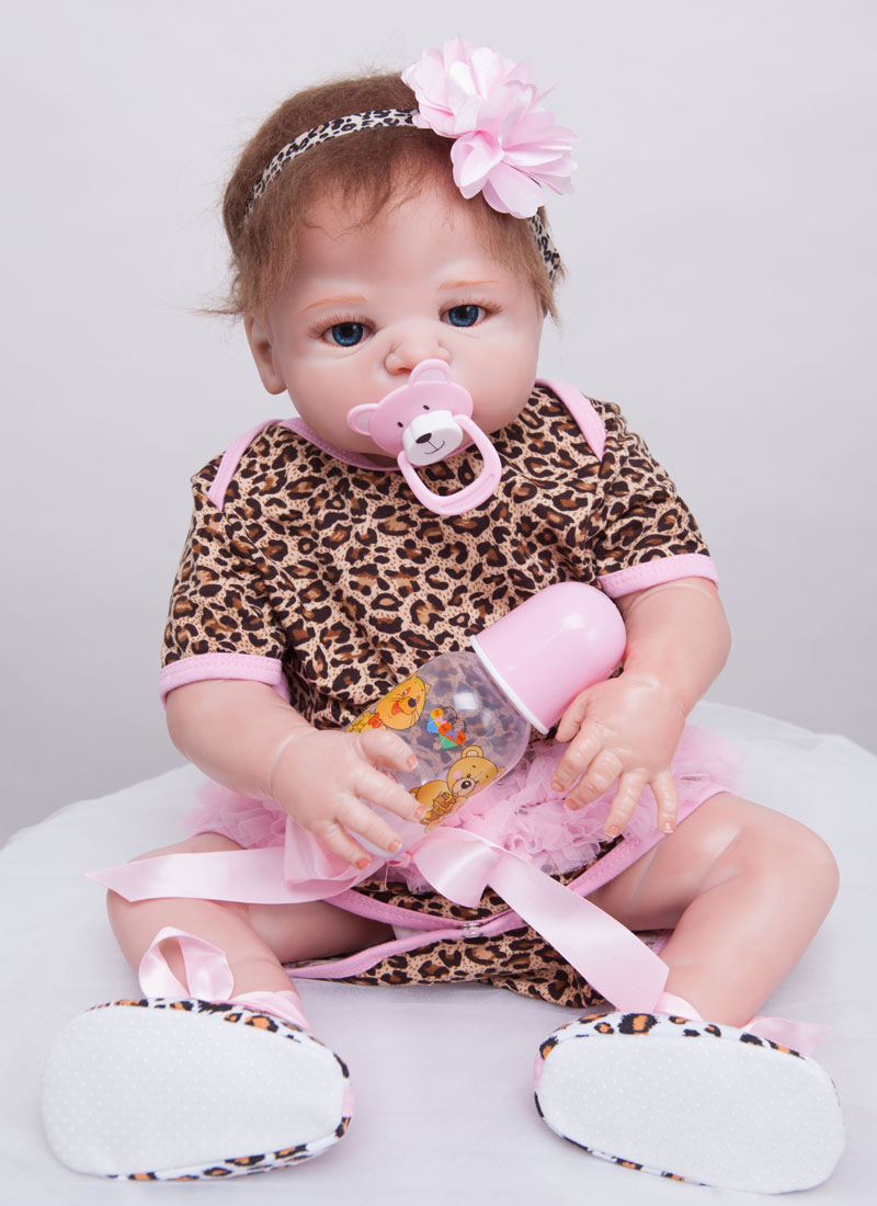 55cm Full Body Silicone Reborn Baby Doll Toys Newborn Girl Babies Reborn Christmas Birthday Gift Girls Brinquedos Bathe Toy silicone reborn baby doll toy lifelike reborn baby dolls children birthday christmas gift toys for girls brinquedos with swaddle
