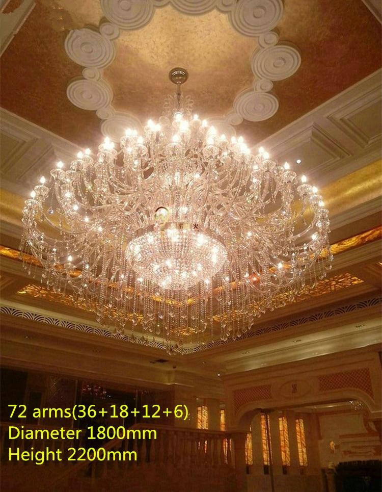 55-72 svjetla moderni LED svijećnjaci kristalne svjetiljke veliki - Unutarnja rasvjeta - Foto 1