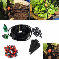 25M DIY Micro Drip Irrigation System Plant Automatic Self Watering Garden Hose Kits With Connector Free