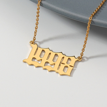 Custom Year Number Necklaces for Women 1990 1995 1996 1997 1998 1999 2000 2019 Christmas Gifts from 1985 to
