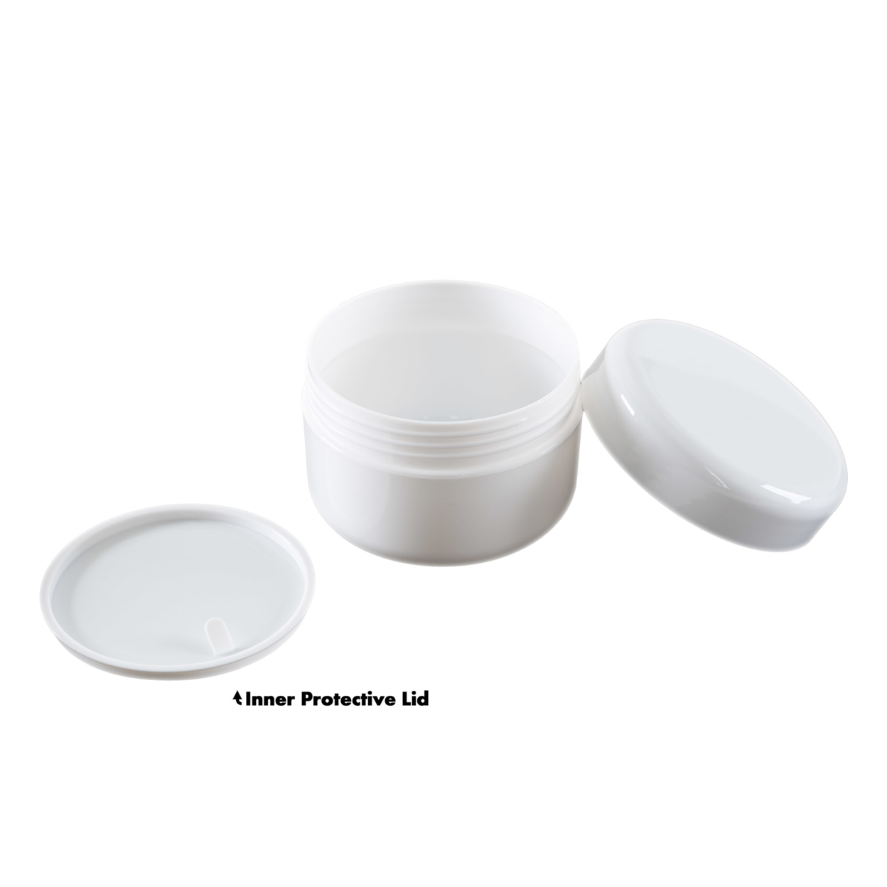 White 4 Ounce Plastic Jar Containers 24 Pack Of Storage Jars Inner