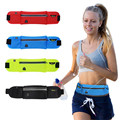 Male/Female Running Jogging Sport Music Fanny Pack Travel Unisex Grid Travel Cycling Waist  Pack Belt Bag Phone Pouch