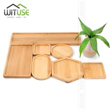 WITUSE Boutique Simple Home Square Tray Bamboo Flower Pot Tray Flower Pot Bonsai Flower Pots Water Tray Gardening Accessories