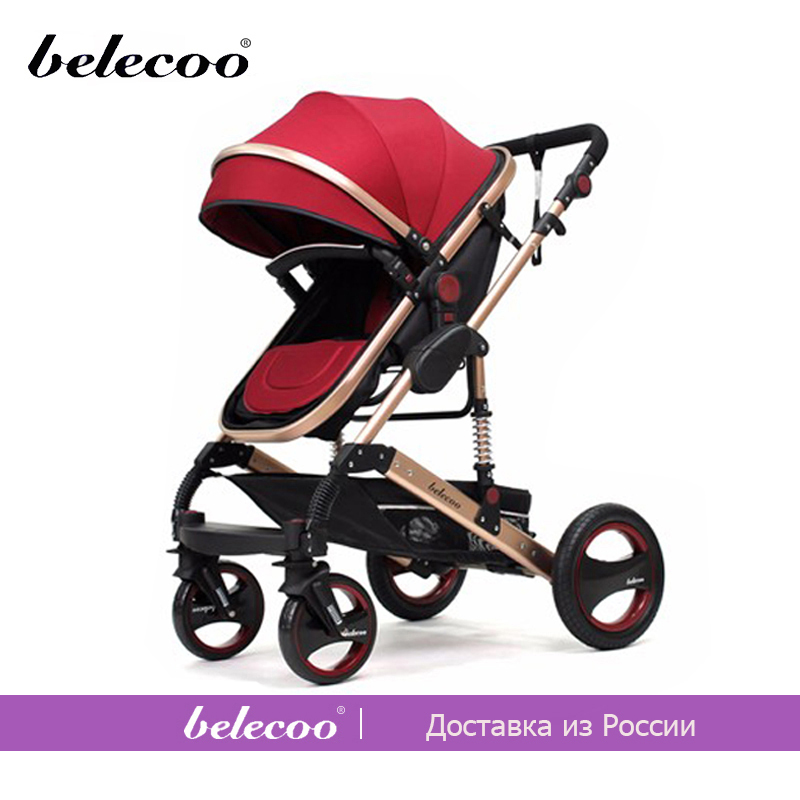 Belecoo Newborn Gift Baby Strollers Portable Lightweight Baby Carriage High Landscape Outing Travel Car Yummy Mummy Stroller RU newborn strollers high lightweight pram dropshipping wholesale portable baby top stroller carriage strollers fashion pushchair