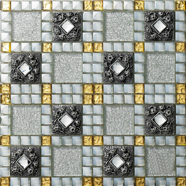 crystal glass tiles sheet diamond mosaic art wall stickers kitchen backsplash tile design bathroom shower floor
