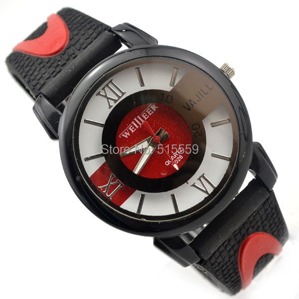 100pcs/lot DHL Free Shipping Sports Watch Silicone Band Watch Roman Dial Hot Sell Favourite Watches 5 Colours