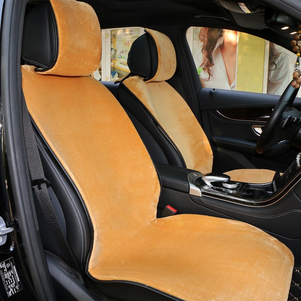1 шт., короткий плюшевый чехол для сиденья автомобиля, передняя зимняя искусственная шерсть, подушка для автомобильного сиденья, удобная теп...