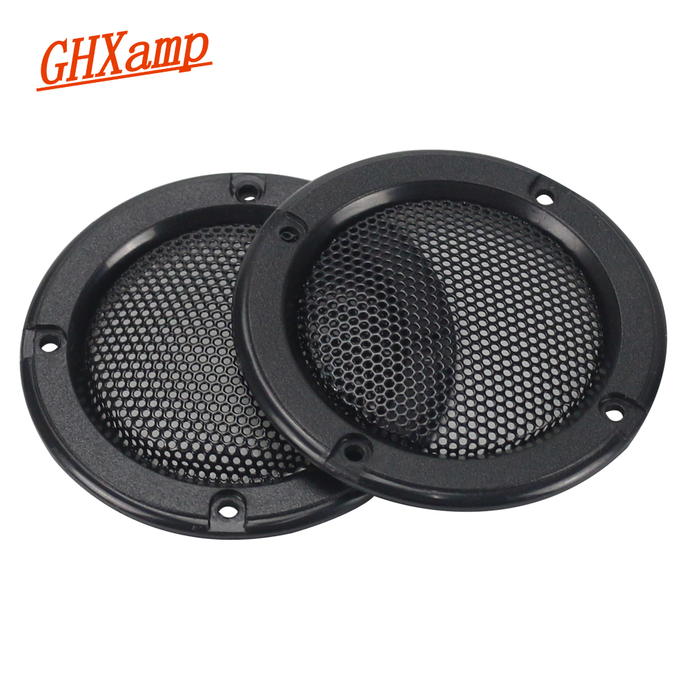 GHXAMP 2PCS 2 Inch Black Car Speaker Grill Mesh Enclosure Net Protective Cover DIY Speaker Accessories