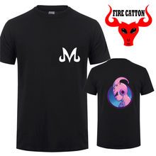 Dubbele drukken DBZ Majin Buu T Shirts kids Buu t-shirt Buu logo T-shirt Team Majin Tee shirt jongens dragon ball Z vegeta apparel(China)