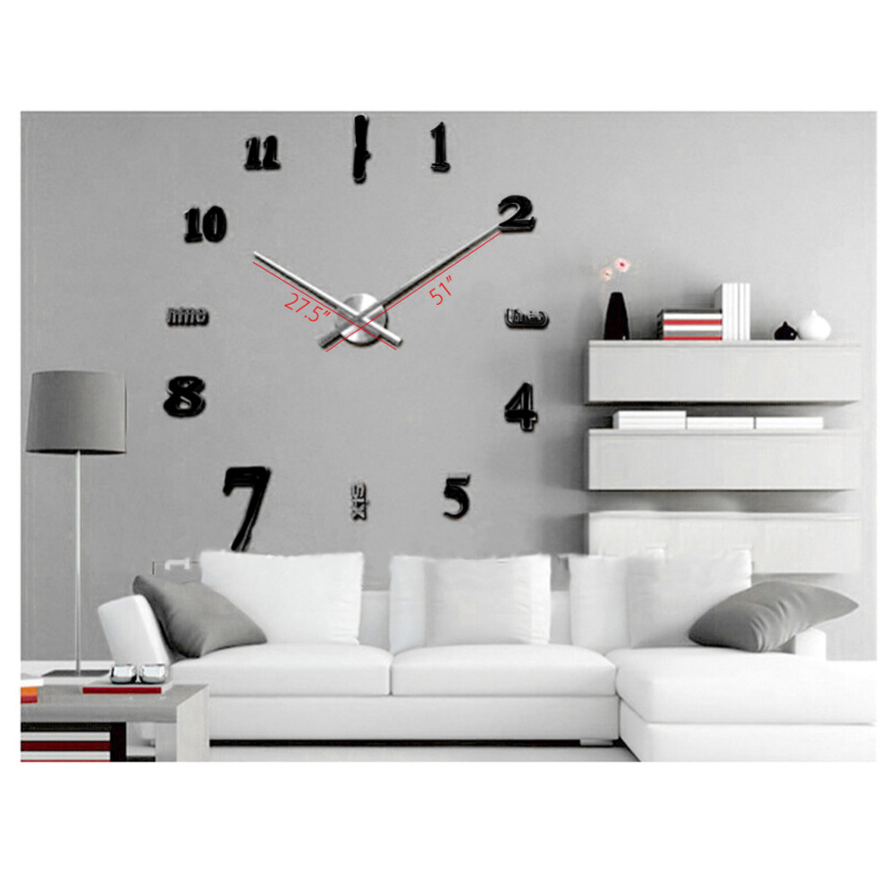 2017 New Large Wall Clock Living Room Office Wall Decoration Clock ...