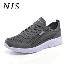 NIS Plus Size Eu39-EU48 Sneakers Men Shoes Lightweight Breathable Mesh Men Vulcanized Shoes Casual Sports Running Sneakers New