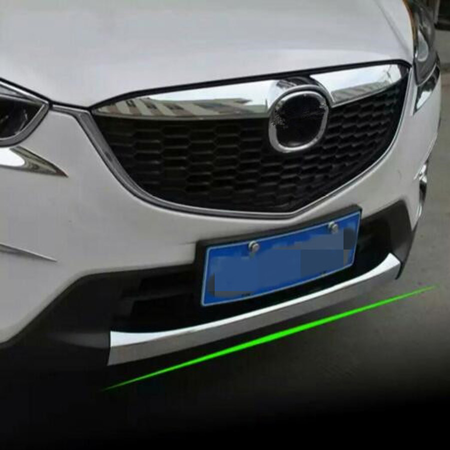 ABS Car Exterior Front Bumper Lip Cover Strip Trim Styling Fit For <font><b>Mazda</b></font> CX-5 <font><b>CX5</b></font> 2013-2016 <font><b>Accessories</b></font> image