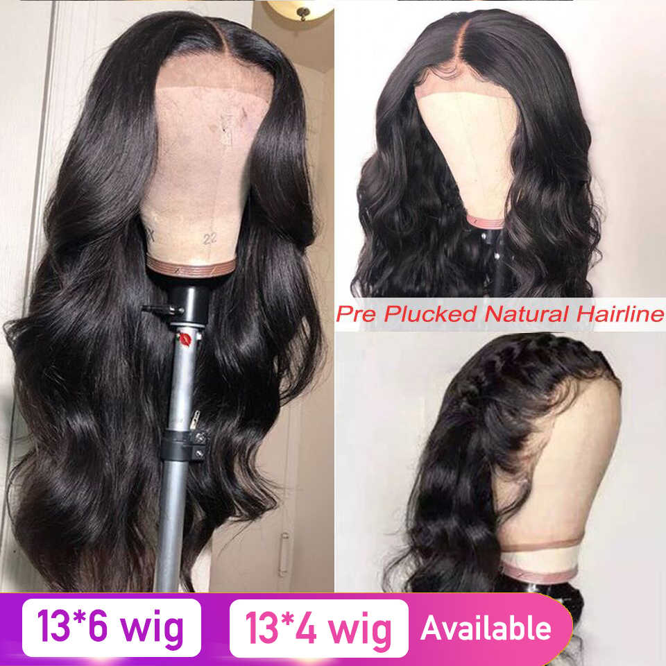 Body Wave 13x6 Lace Front Human Hair Wigs For Black Women Pre Plucked Hairline 13x4 Lace Front Wig 8-26inch Brazilian Remy Hair