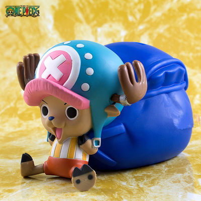 One Piece Lovely Tony Tony Chopper Cute Doll Japanese Anime Japan Puppets PVC Model Piggy Bank Action & Toy Figures GH143 10cm spider man japanese anime lovely swing doll cute black panther mobile phone holder shaking head action