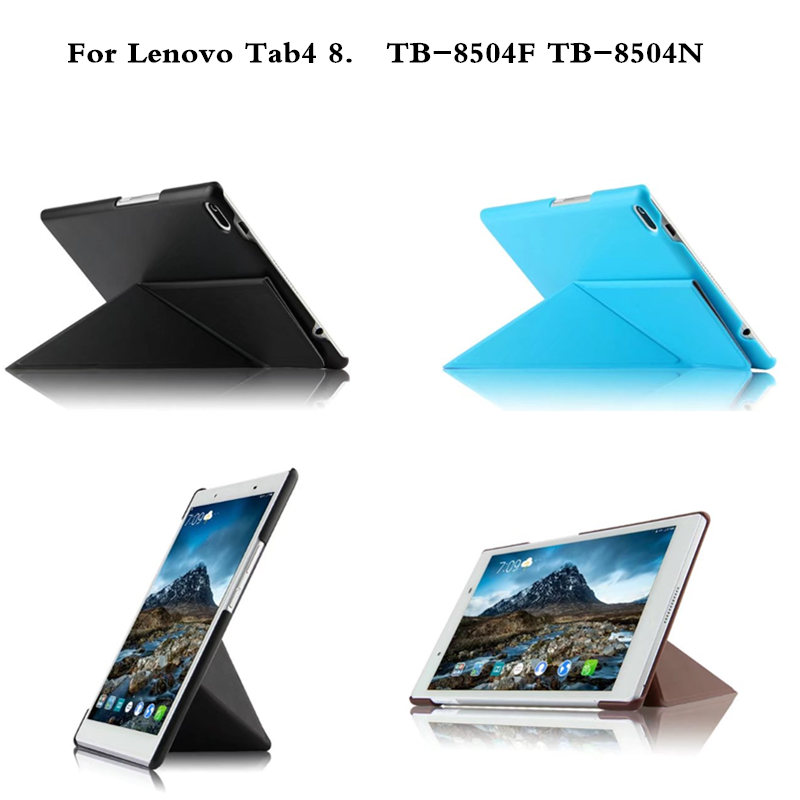 Transformers Case for Lenovo TAB4 8 PU Leather Folding Stand Flip Case for Lenovo TAB 4 8 TB-8504N TB-8504F 8.0 inch Tablet magnetic stand smart pu leather cover for lenovo tab 4 8 tb 8504f 8504n 8 0 tablet funda case free screen protector stylus pen