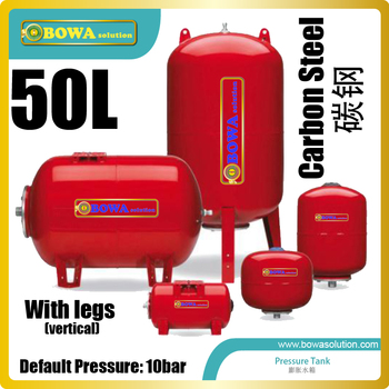 50L precharge pressure tanks delivery conintuous and stable water supply at a fast flow rate with high volume