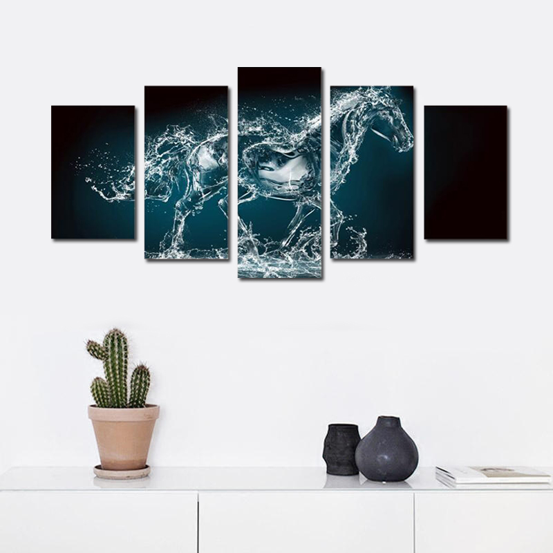 Abstract Running Horse Canvas Art Posters Prints Printed Nordic Painting Wall Pictures for Living Room Home Decor Dropshipping