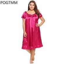 Плюс Размеры оборками пижамы v-образным вырезом короткий рукав ночная рубашка женские пикантные ночная рубашка Повседневная Sleepdress спокойной костюм домашняя одежда 4XL YP