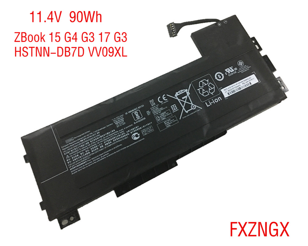 11.4V 90Wh New VV09XL Battery for HP ZBook 15 G3 17 G3  808398-2C1 808452-001 HSTNN-DB7D11.4V 90Wh New VV09XL Battery for HP ZBook 15 G3 17 G3  808398-2C1 808452-001 HSTNN-DB7D