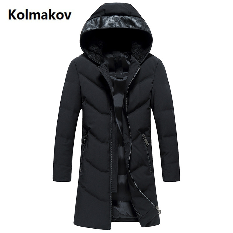 2017 New Long style fashion coats Mens Hooded keep warm thicken 90% White duck down Down Coats jacket Mens Winter jackets