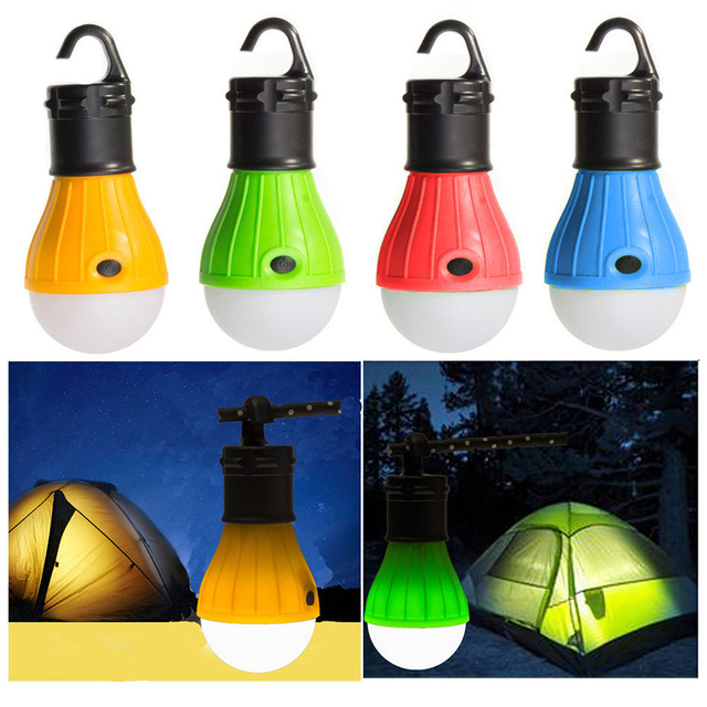 1 Piece EDC Outdoor Camping Tent Accessory Lamp Tent Emergency Light Bulb Hanging 3LED Night Light Mini Portable Travel Tools