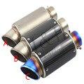 60mm modificado silenciador motocicleta off-road veículos R25/R3 fibra de carbono AR/SC-grande calibre 60 deslocamento de exaustão do carro de esportes