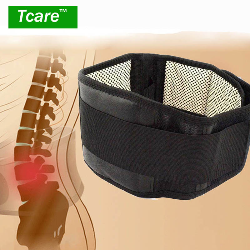 Tcare Adjustable Tourmaline Self heating Magnetic Therapy Back Waist Support Belt