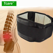 * Tcare Adjustable Waist Tourmaline Self heating Magnetic Therapy Back Waist Support Belt Lumbar Brace Massage Band Health Care(China)