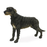 Fashion Collector Irish Wolfhound Simulated Dog Model Car Handicraft Collection Figurines Miniatures Decoration Crafts Ornaments Figurines & Miniatures     -