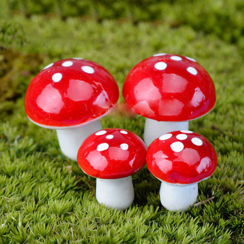 unids artesana accesorios de decoracin del hogar mini seta roja ornamento del jardn macetas en