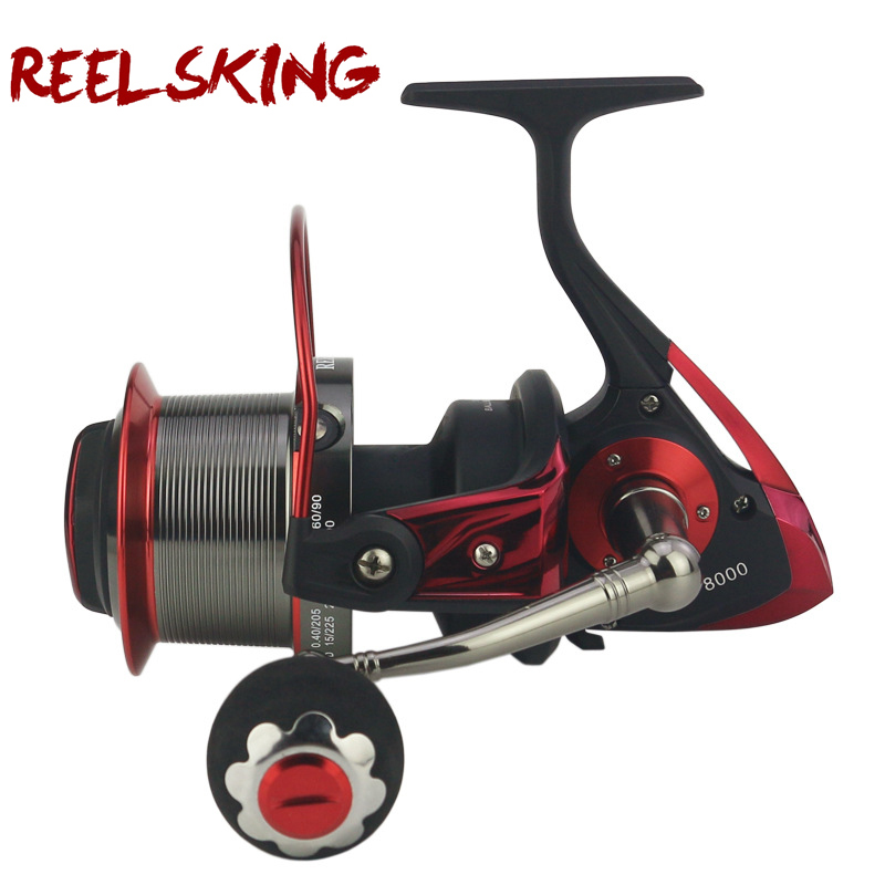 Roue spinning moulinets de pêche 13BB + 1CNC lointain Gapless Full metal moulinet de pêche AF8000 série roue de pêche Sea Rock leurre de pêche