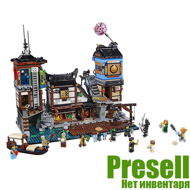 2018 Lepin 06083 Ninja The City Docks Ninjagoed Figures Building Blocks Bricks Toys For Children legoingly compatible with 70657 new lepin 16009 1151pcs queen anne s revenge pirates of the caribbean building blocks set compatible legoed with 4195 children