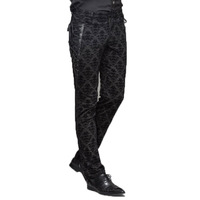 Gothic Punk Victorian Mens Pants Black Steampunk Fitness Casual Male Trousers Slimming Fitted Feet Pants Large Sizes S XXXL