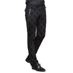Punk Gotico Vittoriano Mens Pantaloni Nero Steampunk Fitness Casual Maschio Pantaloni Che Dimagrisce Equipaggiata Piedi Pantaloni di Grandi Dimensioni S-XXXL