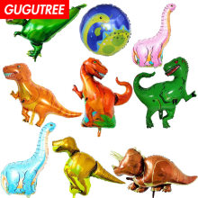 Decorate Home 86x83cm green pink blue gold dinosaur foil ballon wedding event christmas halloween festival birthday party HY-33(China)