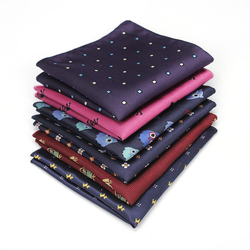 16 Pieces of Men's Polyester Silk Handkerchiefs Pocket Squares Mixed Patterns Jacquard for Suits Jackets Wedding Party Business