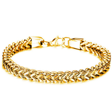 Three Color 316L Stainless Steel Chain Mens Bracelets Bangles Fashion Jewelry