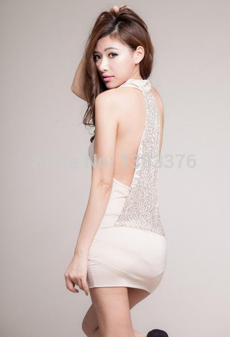 Lingerie Nightwear Sequins sexy nightclub tight halter dress game uniforms sexy lingerie costumes nightdress 40111 in Babydolls Chemises from Novelty Special Use