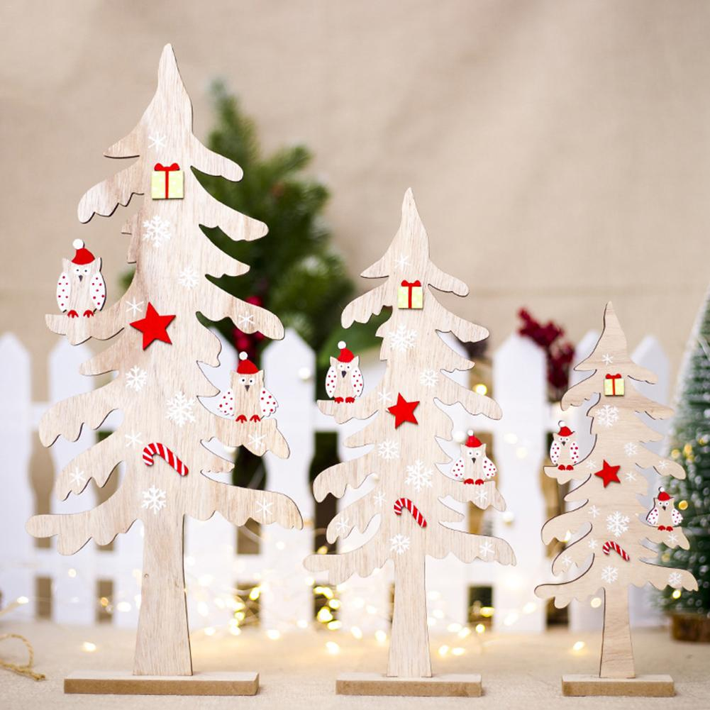 Wooden Christmas Tree Diy Arts Crafts Decoration Artificial Wooden
