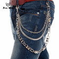 320g Super Heavy  Motor Bike Link 3 Layers Men Wallet Key Chain DH Waist Chain Heavy HIP HOP Punk Jeans Pant Chain J40